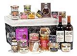 Ducs de Gascogne - Coffret gourmand 'Avalanche Gustative' - comprend 23 produits dont un foie gras entier, 2 spécialités au foie gras, un vin blanc moelleux et un vin rouge - spécial cadeau (946665)