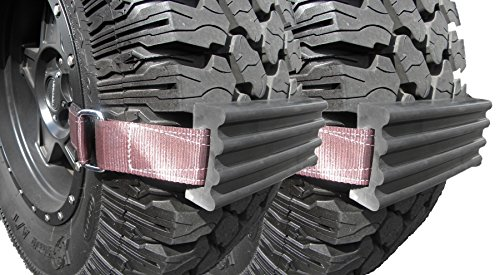 TRACGRABBER Tire Traction Device for Snow, Mud and Sand – for Oversized Tires on Trucks/SUVs, Set of 2 – Easy to Install, Get Unstuck Fast – A Snow Traction Mat or Snow Chain Alternative