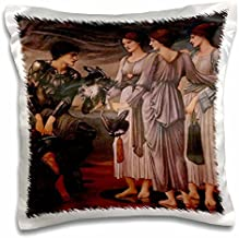 BLN Victorian Era Fantasy Fine Art Collection - Perseus and the Sea Nymphs by Edward Burne-Jones - 16x16 inch Pillow Case