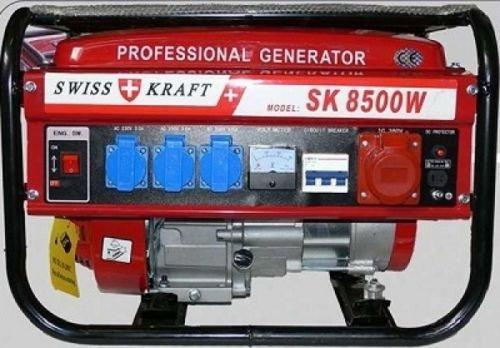 Stromerzeuger Swisskraft SK-8500W - 6500 Watt 6,5 PS / 4-Takt / 12, 220, 380V