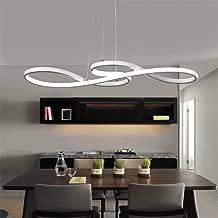 Modern LED pendant light dining table hanging lamp made of acrylic, 3000K LED ceiling light 58W Height adjustable chandelier for dining room living room lamp, warm white light, white