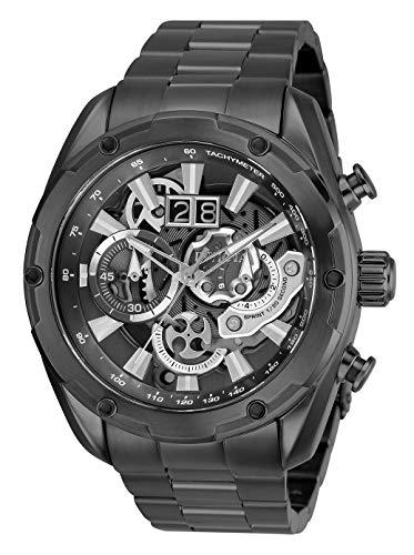 Invicta Men's Speedway Gun Metal Steel Bracelet & Case Automatic Grey Dial Analog Watch 30039