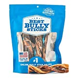 Best Bully Sticks American Pride 6-inch All-Natural, Odor-Free Twisted Bully Sticks- 100% sourced and Made in USA at GFSI Certified Facility, Pack of 8