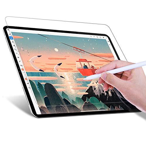 JETech Protector de pantalla Paper Feel Compatible con iPad Pro 12,9 Pulgadas (2020 y 2018 Modelo), Anti Reflejante, Película de Textura de Papel PET Mate para Dibujar