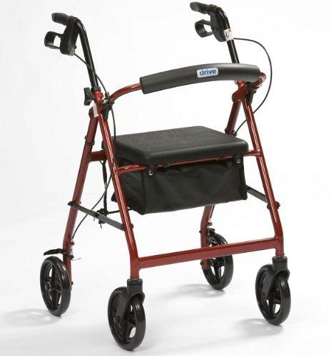 Ultra lightweight folding rollator wheeled walker walking frame with...