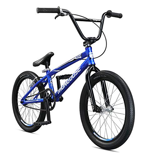 Mongoose Title Pro BMX Race Bike, 20-Inch Wheels, Beginner to Intermediate Riders, Lightweight Aluminum Frame, Internal Cable Routing, Blue