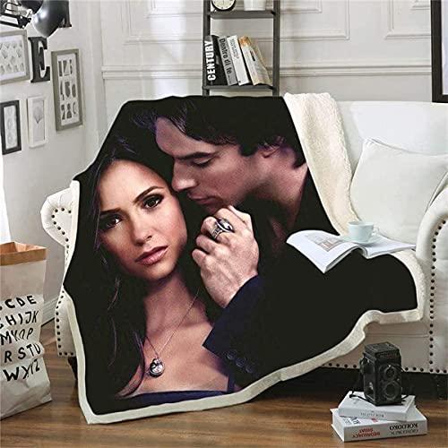 Aatensou The Vampire Diaries - Manta de franela suave, manta de microfibra, para sofá o siesta, perfecta para cama de sofá (A6,100 cm × 140 cm)
