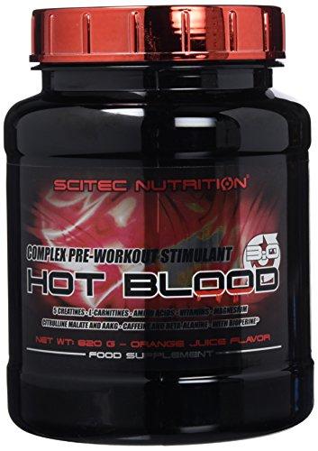 Scitec Nutrition Hot Blood 3.0 Fórmula Pre Entrenamiento Zumo de Naranja - 820 g