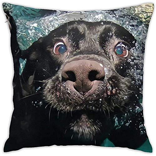 SSHELEY Populäre lustige reizende Labrador-Hundekissen umkleiden weiches Wurfs-Kissen-doppelseitiges Drucken-Couch-Kissenbezug-Quadrat
