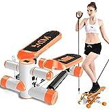 DODOBD Up Down Swing Stepper, Fitness Esercizio Mini Steping Gambe con Fasce di Resistenza, Gambe...