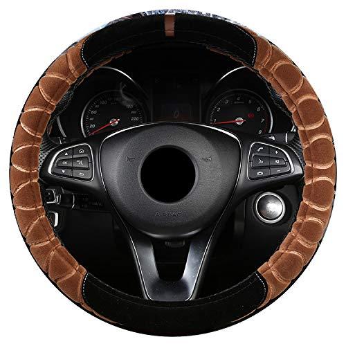 Ablaze Jin Winter universele auto stuurwiel cover 6 kleuren pluche warme zachte vlecht op de stuur-wiel auto Styling