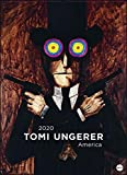 Tomi Ungerer Edition: America. Wandkalender 2020. Monatskalendarium. Spiralbindung. Format 49 x 68 cm - Heye