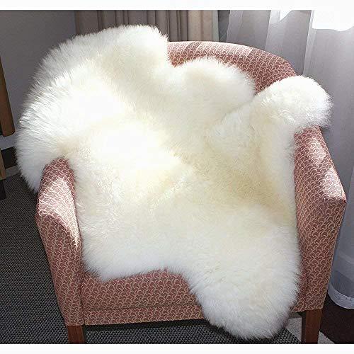 Arte pelaje área blanca alfombra antideslizante tamaño suelo del baño de lana hechos a mano peluda sofá estera cojín de la manta, cojín de asiento 60 x 90 cm