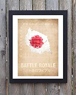 North Shine Battle Royale Minimal Minimalist Movie Film Print Poster Gifts for Lovers Poster [No Framed] Poster Home Art Wall Posters