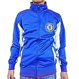 Rhinox Chelsea FC Adult Blue Soccer Football Jacket Track Zip Up 2015-2016 (Blue, Small)