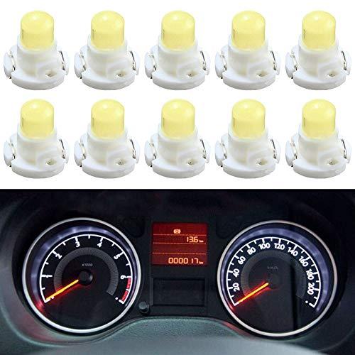 TABEN T3 Neo Wedge - Bombillas LED para control de climatización del aire acondicionado, luces de control de clúster de instrumentos (blanco)