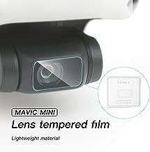 BONFOOK Camera Lens Protective Film for DJI Mavic Mini, 2.5D HD Tempered Glass Film High Transparency Scratch-Resistant Lens Protector (2 PCS)