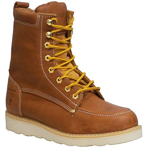 Rhino 82T06-9.5 8in. Moc Toe #9.5 Leather Work Boot, Butternut