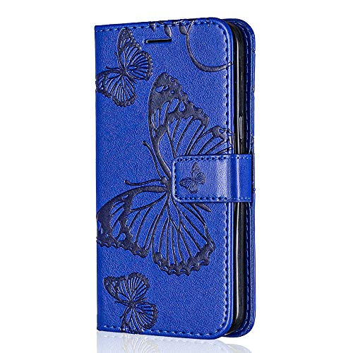 Huawei P8 Case, Bear Village Premium PU Wallet Protective Case with Card Slot, Magnetic Flip Notebook Leather Cover for Huawei P8 (#4 Blue)