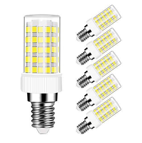 Bombillas LED E14 10W Equivalente a Lámpara Halógeno de 80W, 800 Lúmenes, CRI80, Blanco Frío 6000K, Bombilla LED E14 10W, No Regulable, 5 Unidades