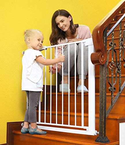 Baby Gates for Stairs and Doorways Dog Gates for The House,...