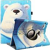 RLINGX Funda para Huawei MediaPad T5 10 - Giratoria 360 grados de rotación Funda protectora Stand Case para Huawei MediaPad T5 10 10.1 pulgadas 2018 (Bear)
