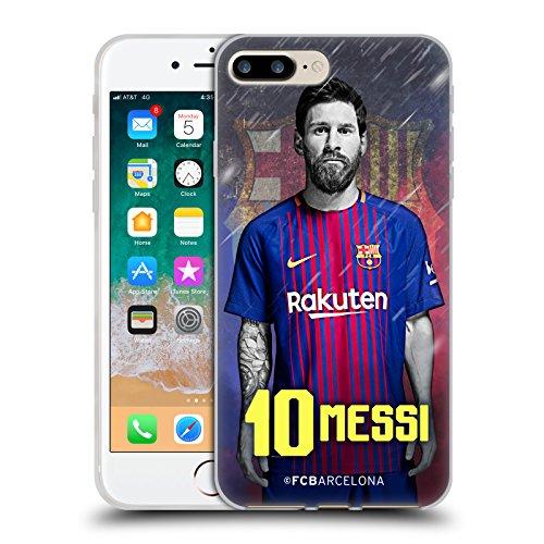 Head Case Designs Oficial FC Barcelona Lionel Messi 2017/18 First Team Group 1 Carcasa de Gel de Silicona Compatible con Apple iPhone 7 Plus/iPhone 8 Plus