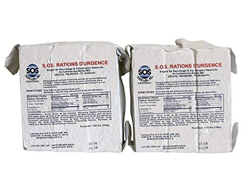 SOS Food Labs 185000826 Emergency 3600 Calorie Food Bar (Pack of 2) 3