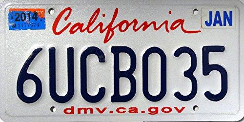 USA_Auswahl_von_Fahrzeugschildern Fahrzeugnummernschild California
