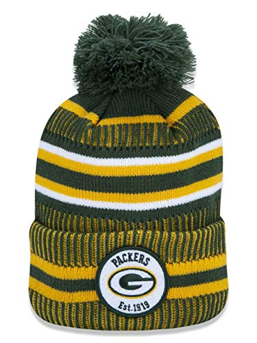 New Era ONF19 Sport Knit Mütze Green Bay Packers Grün Gelb, Size:ONE Size