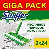 Swiffer Mopa Paños Húmedos con Fragancia Fresca de Limón 48 Unidades, para una Limpieza Rápida y Fácil