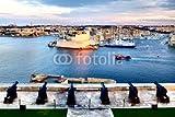 druck-shop24 Wunschmotiv: Valletta fortress at dusk -