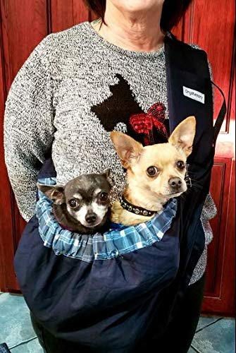 OrgMemory Carrier Soft-Sided Pet Carrier, Hands-Free Adjustable Sling Bag, Small Dogs/Cats Outdoor Shoulder Carry Bag 3
