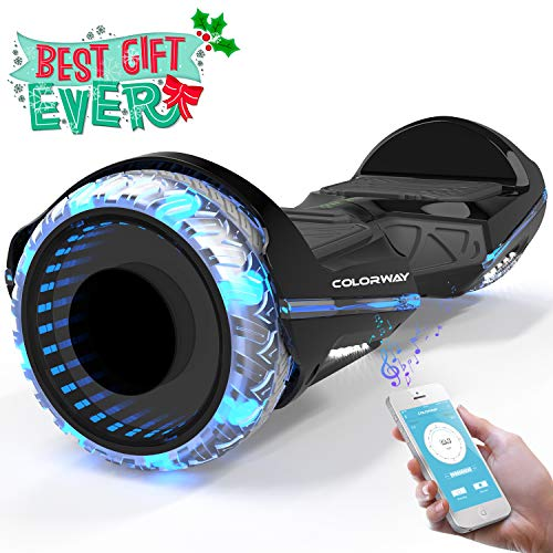 COLORWAY CX911 Hover Scooter Board Hoverboard - Self Balance Board SUV 6,5 Zoll - Elektro Scooter mit Bluetooth und App - Voll-LED-Räder - Doppelmotor - E-Scooter EU-Sicherheitsstandard
