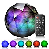 VersionTECH. LED Bluetooth Speaker Colorful Wireless Loud Speaker with Remote Control, Enhanced Bass for iPhone iPad Samsung PC,Support Aux-in/tf Card