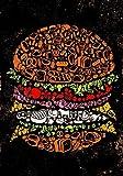 MJKII Placa de lata para decoración de pared con texto en inglés 'Burger Humburger', comida rápida al aire libre, decoración para el día de San Valentín, regalos para mujeres, 8 x 12 pulgadas