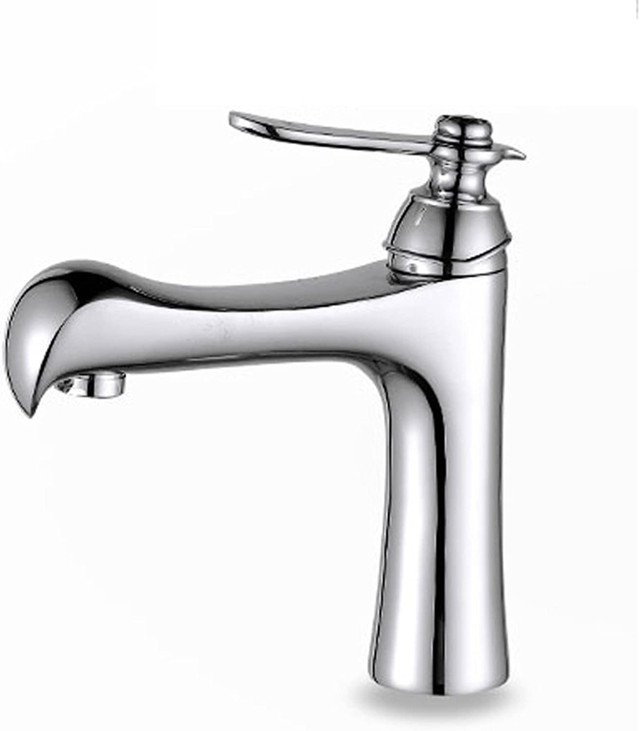 Bidet Taps Single-hole Faucet Copper Hot And Cold Bathroom Wash Basin Mixing Valve Aperture 32MM To 40MM Can Be Installed