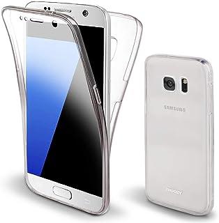 Moozy 三星 S7 360 度手机壳 - 三星 Galaxy S7 全机身正面和背面纤薄透明 TPU 硅胶手机壳