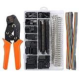 Proster Herramientas de Crimpadora Dupont, Juego de Crimpadora con 1550PCS Pins Conector Dupont 28-18AWG 0.1-1.0mm² para equipamiento de impresión 3D RPi Arduin