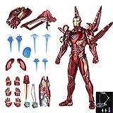 SANJIN Iron Man Actionfigur Spielzeug MK 50 Höhe 16 cm Zubehör beinhalten unbegrenzte Krieg Avengers 3er Modelle