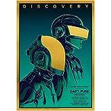 Die Daft Punk Rock Musik Band Poster Und Druckt Kunst