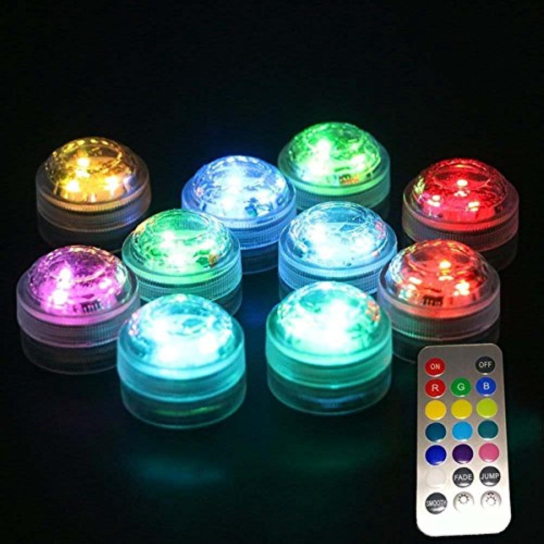 QIZIANG 1X 10X Fernbedienung Tauch LED Kerze Teelicht Wasserdichte RGB Tischlampe Dekoration Hot (Farbe   NO. 10) B07KNJ1F5S  | Economy