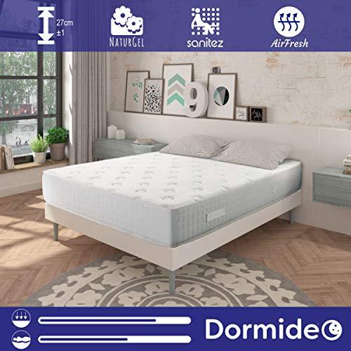 DORMIDEO - Colchón Viscoelástico City Luxury - Fibras ecológicas Cashmere, Antibacterias, 90x190cm