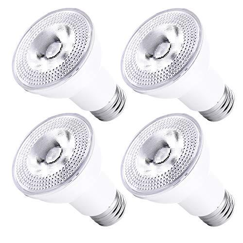 Par20 Led Bulbs 3000K Warm White Dimmable Flood 7W(50W Halogen Equivalent) E26 40 Degree Spot Light for Indoor Track Recessed Lighting 4-Pack