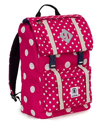 ZAINO INVICTA - SHOT PACK FANTASY - Rosa Bianco - tasca porta pc e Tablet padded - americano 28 LT