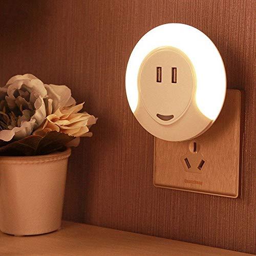 LYX Capteur de lumière LED USB lumière de Charge à Double lumière de Nuit Aisle Armoire Lumière Cabinet Chambre (Size : 2.1-Europe Regulation)