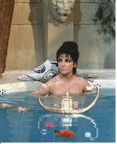Elizabeth Liz Taylor Photo #3 sexy close up as Cleopatra in bath nude with floating perfume boat 8 x 10 Photo