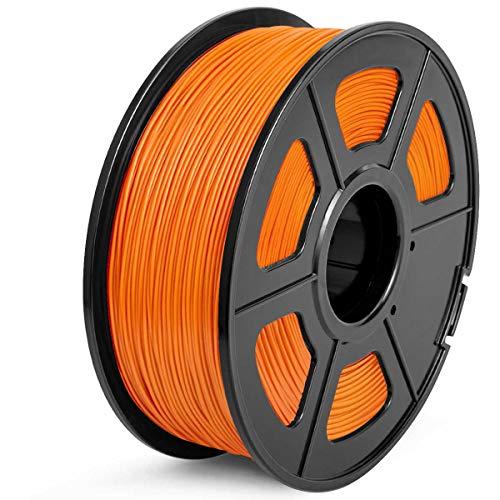 Filamento PLA 1.75mm, SUNLU PLA Filamento de Impresora 3D, Precisión Dimensional +/- 0.02 mm, 1kg Spool, PLA Naranja