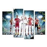 islandburner, Bild auf Leinwand Multi-Sport Collage Boxen