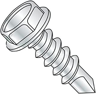 #8-18 x 1//2 Self Drilling Screws Unslotted Zinc Plating Steel Indented Hex Washer 2 Point Quantity: 6700 pcs
